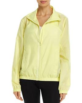 AQUA - Perforated Zip-Front Windbreaker Jacket