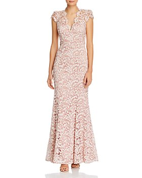Eliza J - Scalloped-Edge Lace Gown