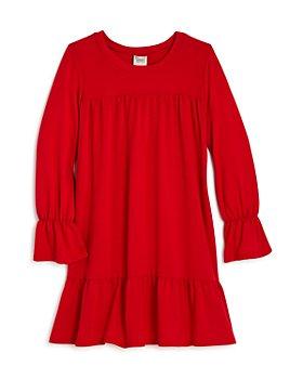 AQUA - Girls' Long Ruffled Knit Dress, Big Kid - 100% Exclusive