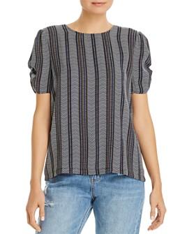 Vero Moda - Striped Puff-Sleeve Top
