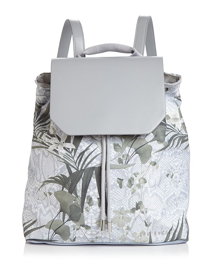 Ted Baker - Nylahh Everglade Highland Medium Nylon Drawstring Backpack