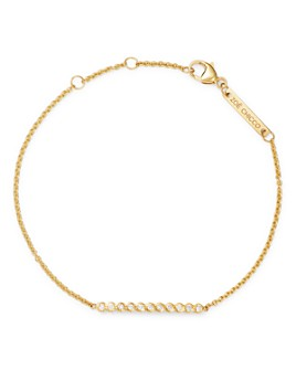Zoë Chicco - 14k Gold Diamond Bezel Bar Link Bracelet
