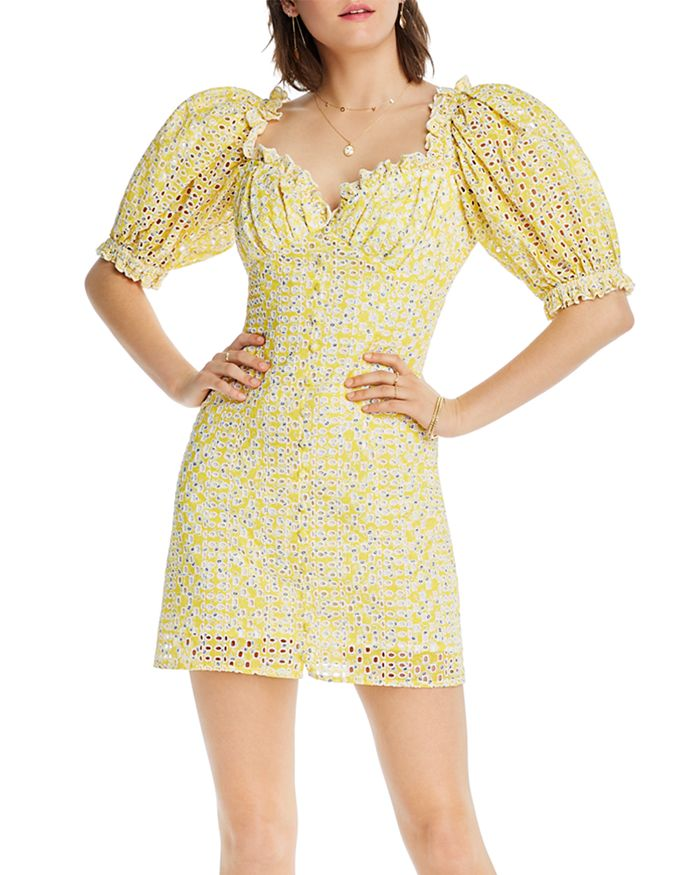 Lini Gracie Eyelet Dress - 100% Exclusive In Yellow/blue
