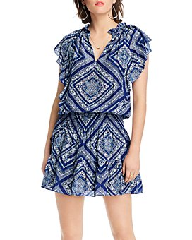 LINI - Stacey Printed Flutter-Sleeve Dress - 100% Exclusive
