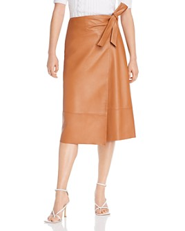 LINI - Leah Leather Wrap Skirt - 100% Exclusive