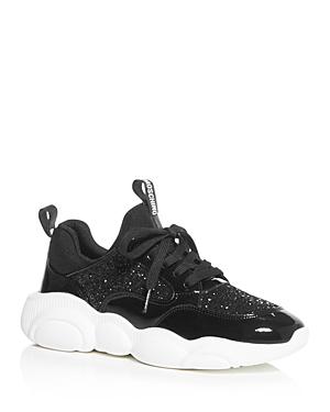 Moschino Women\\\'s Glitter Low-Top Sneakers - 100% Exclusive