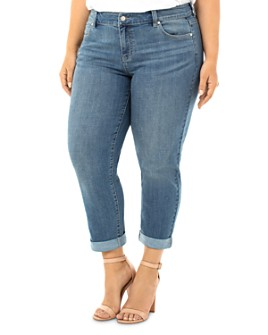 Liverpool Los Angeles Plus - Peyton Slim-Leg Boyfriend Jeans in Ocala
