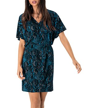 Leota - Ruby Snake Print Mini Dress