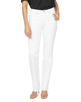 NYDJ - Relaxed Straight Jeans in Optic White