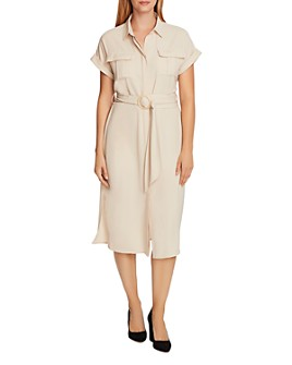 VINCE CAMUTO - Rumple Twill Shirtdress