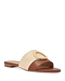 Joan Oloff - Women's Margo Embellished Slide Sandals