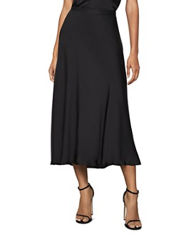 BCBGMAXAZRIA - Satin Swing Skirt