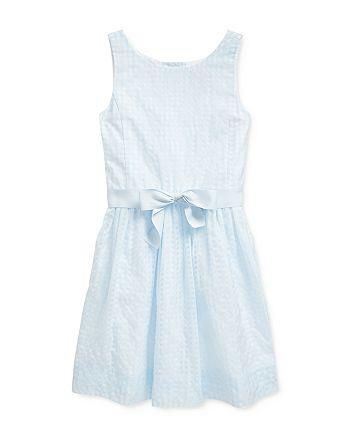 Ralph Lauren - Girls' Windowpane Dress - Big Kid