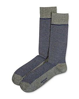 Marcoliani - Triangle-Jacquard Crew Socks
