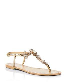 Bella Belle - Women's Luna Embellished Thong Sandals