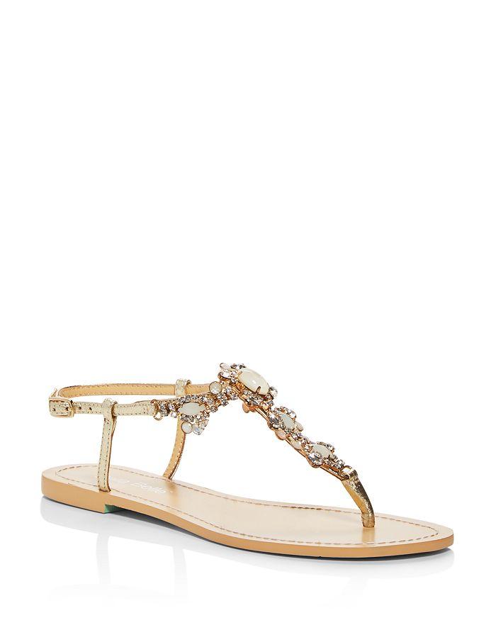 Bella Belle - Women's Luna Embellished Thong Sandals