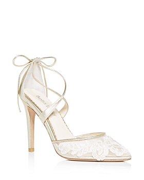 Bella Belle - Women's Anita Floral Ankle-Tie High-Heel Pumps