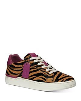 COACH - Women's Lowline Luxe Calf Hair Low-Top Sneakers