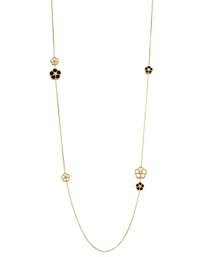 Roberto Coin 18K Yellow Gold Black Onyx, Mother-Of-Pearl & Diamond Flower Strand Necklace - 100% Exclusive-Jewelry & Accessories