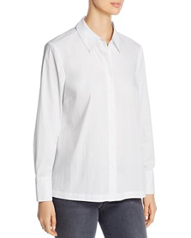 Marled - Pleated-Back Button-Up Shirt
