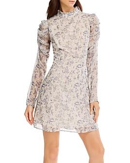 AQUA - Victorian Puff-Sleeve Mini Dress - 100% Exclusive