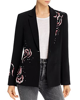Cinq à Sept - Swirling Plume Rumi Embroidered Blazer