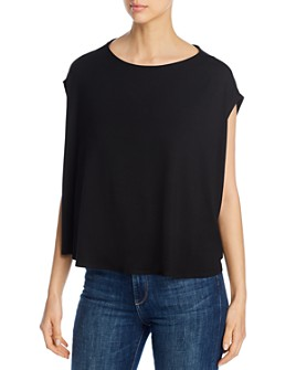 Eileen Fisher Petites - Boat-Neck Boxy Top