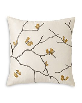 """Michael Aram - Butterfly Gingko Embroidered Decorative Pillow, 18"""" x 18"""""""