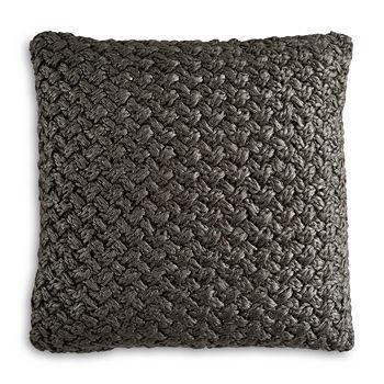"Michael Aram - Iris Metallic Knit Decorative Pillow, 18"" x 18"""