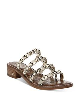 Sam Edelman - Women's Juniper Strappy Slip On Thong Sandals