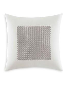 """Vera Wang - Silver Birch Fretwork Square Decorative Pillow, 18"""" x 18"""""""