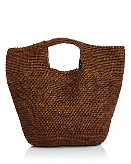 AQUA - Woven Raffia Carryall Satchel - 100% Exclusive