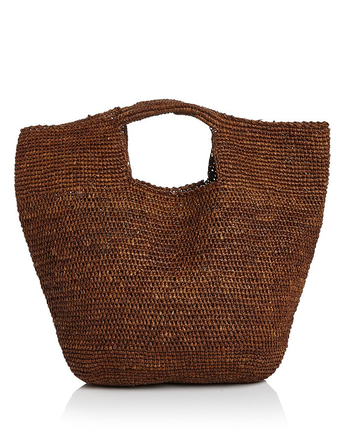 Aqua Woven Raffia Carryall Satchel - 100% Exclusive In Brown