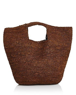 Aqua Woven Raffia Carryall Satchel - 100% Exclusive-Handbags