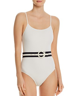 Solid & Striped - Nina Belted One Piece Swimsuit