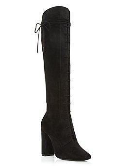 Saint Laurent - Women's Laura 100 Lace Up Boots