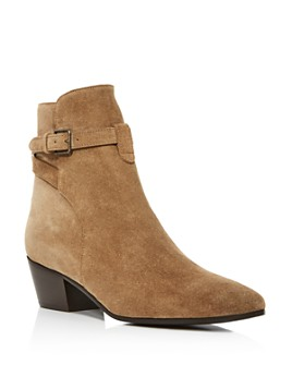 Saint Laurent - Women's Wyatt 40 Buckled Booties