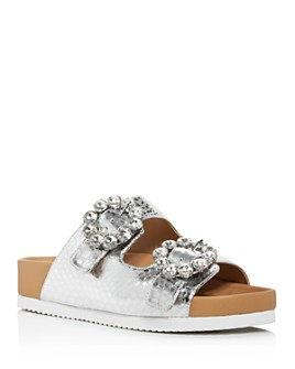 KURT GEIGER LONDON - Women's Marlo Crystal Croc-Print Sandals