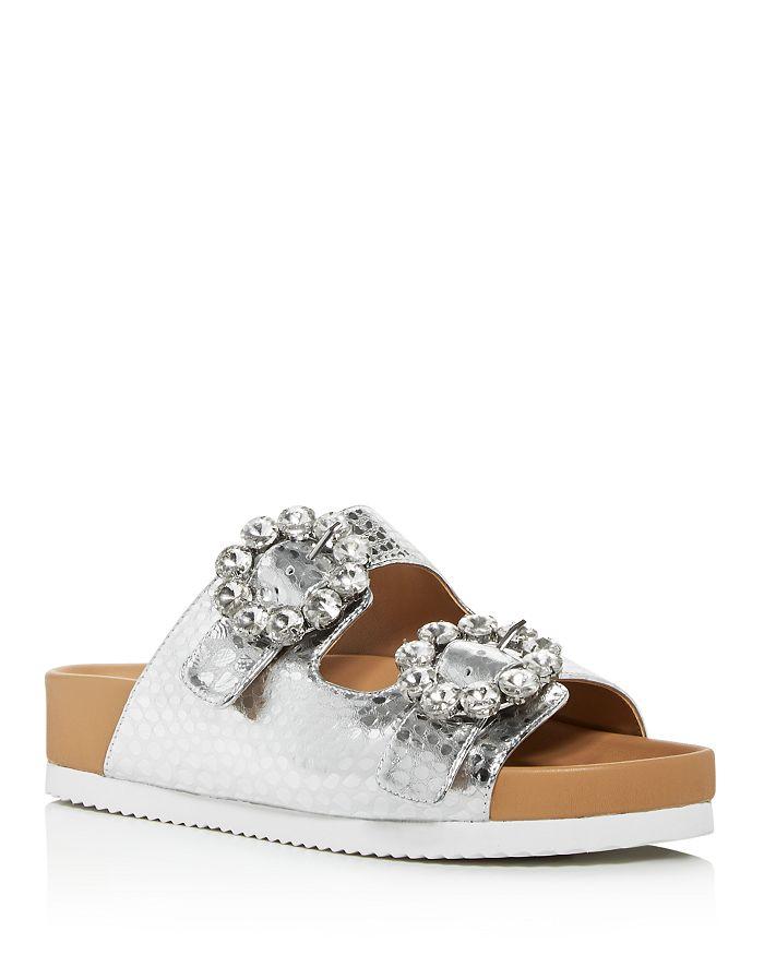 KURT GEIGER LONDON - Women's Marlo Crystal Croc-Print Sandals