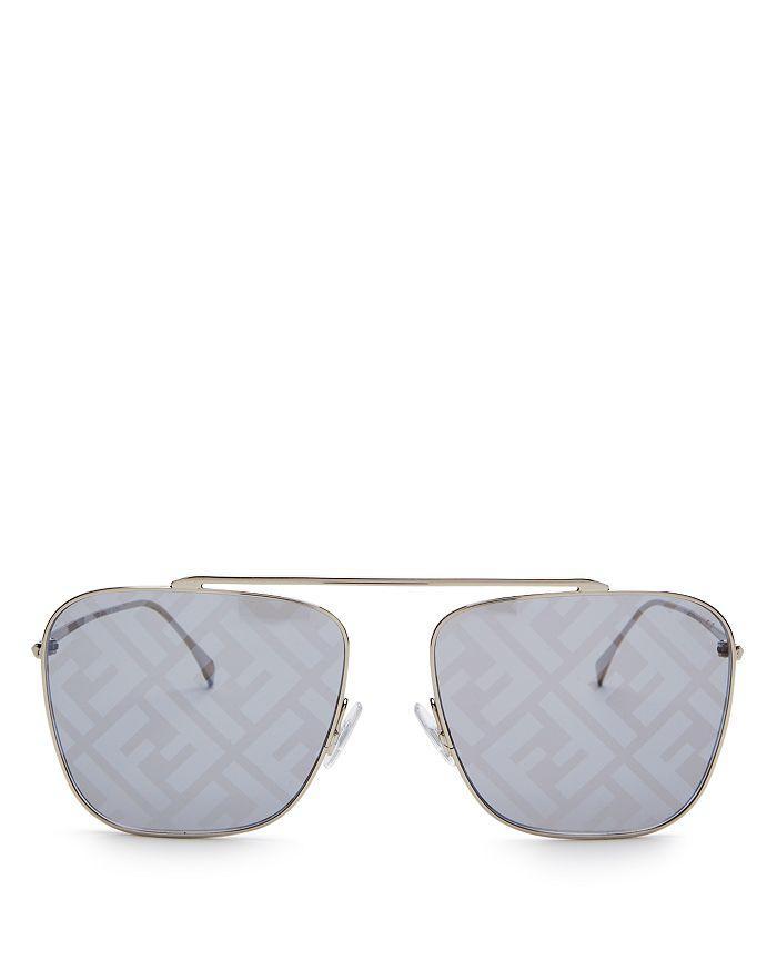 Fendi - Women's Brow Bar Aviator Sunglasses, 61mm