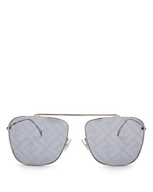 Fendi Women\\\'s Brow Bar Aviator Sunglasses, 61mm-Jewelry & Accessories