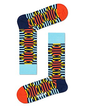 Happy Socks - Color-Blocked Optic Dot Crew Socks