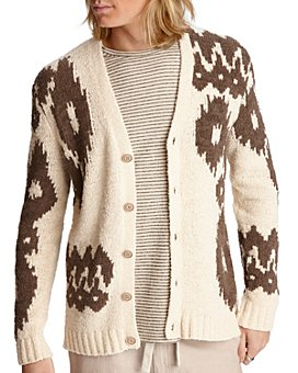 John Varvatos Star USA - Bannister Intarsia-Knit Regular Fit Cardigan