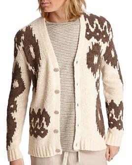 John Varvatos Star USA - Bannister Intarsia-Knit Regular Fit Cardigan