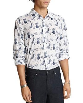 John Varvatos Collection - Cotton Floral-Print Slim Fit Shirt