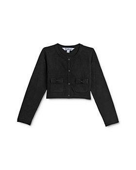 Pippa & Julie - Girls' Bow-Pocket Cotton Cardigan - Little Kid