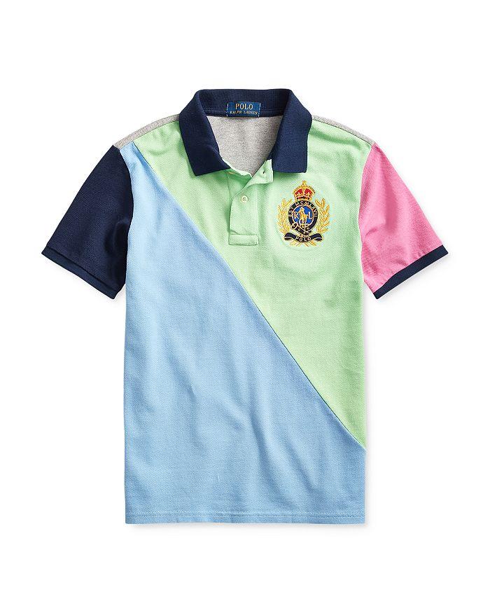 Ralph Lauren - Boys' Cotton Colorblocked Crest Polo - Big Kid