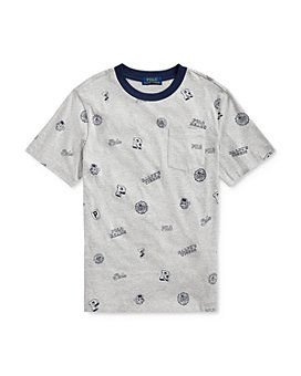 Ralph Lauren - Boys' Cotton Collegiate-Print Tee - Big Kid