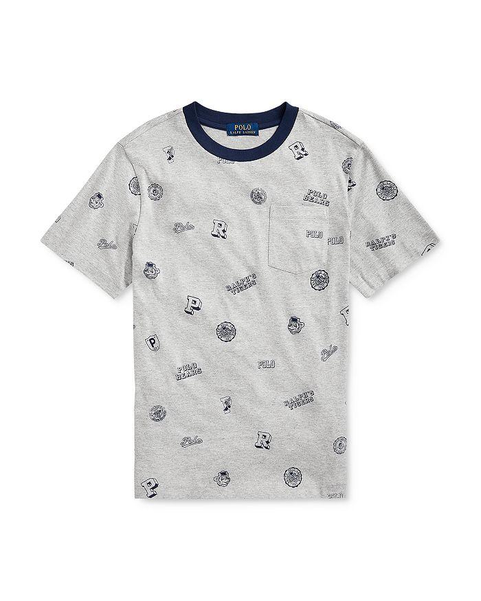 Ralph Lauren - Boys' Cotton Collegiate-Print Tee - Big Kid