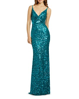 Mac Duggal - Sequined Sheath Gown